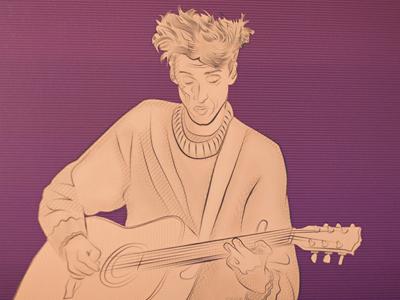 Musician Illustration indie rock illustration atlas sound