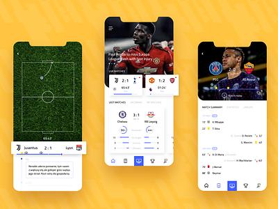 Football Live Scores - Concept App score matches goal ball match soccer football app football club app scores live scores football live football