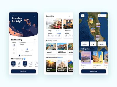 Find Your travel app ux ui mobile journey tour tourism trip traveling app travel app