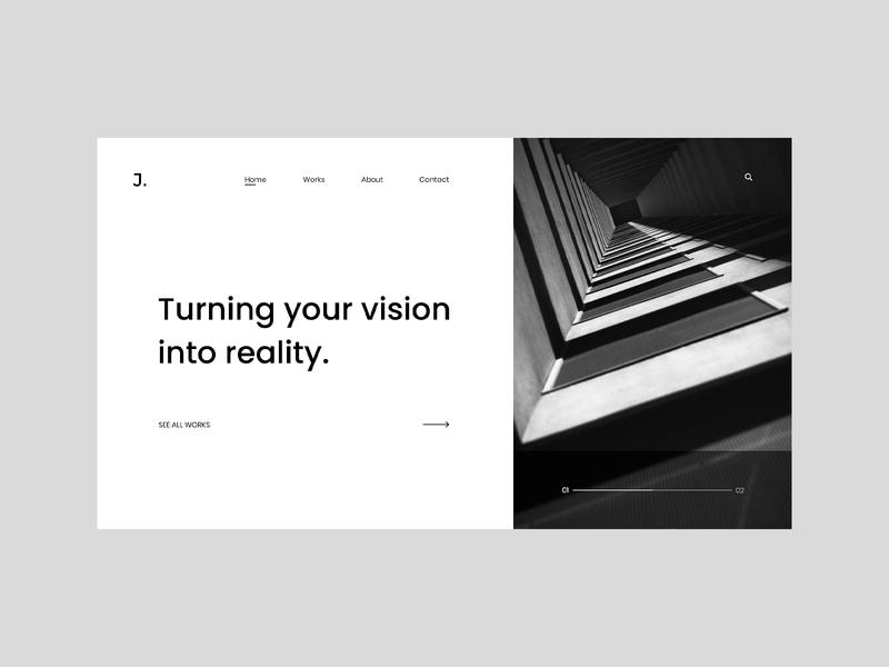 Landing page for architect. 2020 website design web design webdesign website web landing page landingpage ux design uxdesign ux ux  ui uxui ui design uidesign ui  ux uiux ui adobexduikit adobexd