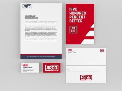 Arco Marine Collateral envelope design letterheads business cards collateral boat marine identity branding branding design