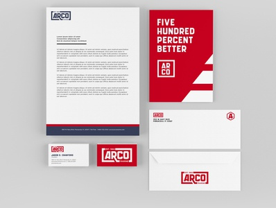 Arco Marine Collateral envelope design letterheads business cards collateral boat marine identity branding branding design