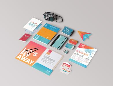 Aero Air Charter Print Design