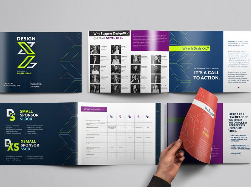 DesignXL Sponsor Packet event branding print art direction branding design