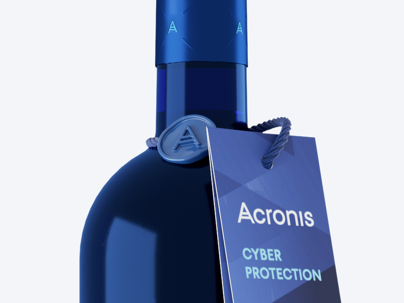 Acronis Cyber Wines 2019 3d-mockups corona render packaging design visualization mockup bottle wine cyberprotection cinema4d animation 3d animation c4d acronis 3d
