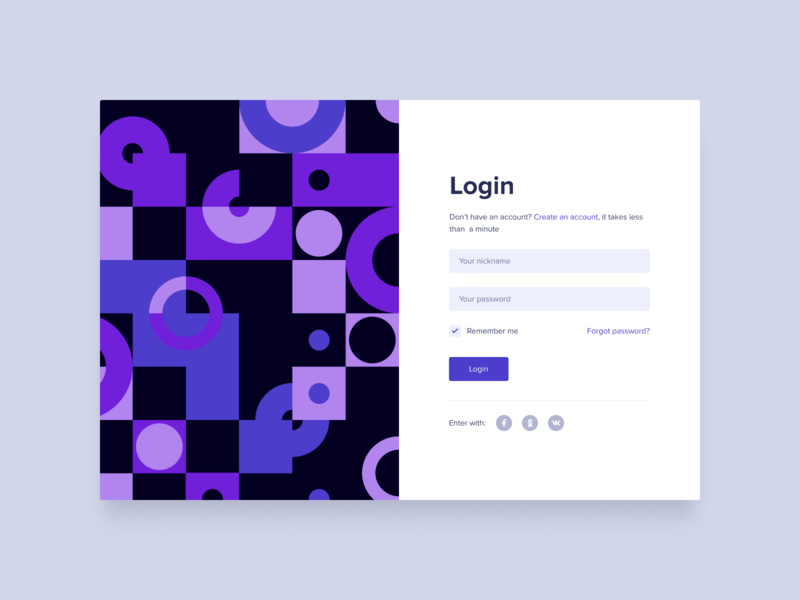 Applying pattern in the registration form design vector typography ui  ux interface branding registration page registration pattern