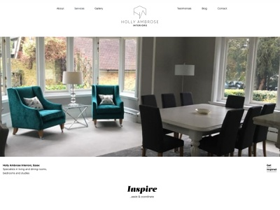 Holly Ambrose Interiors branding, web design and development content creation logo branding webdevelopment webdesign