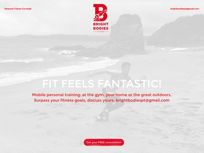 Bright Bodies Fitness: website design