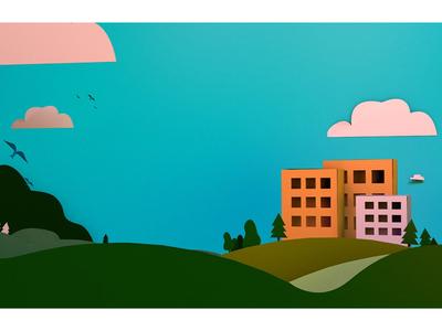 Papercraft Landscape