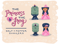 Princess and frog shakers set