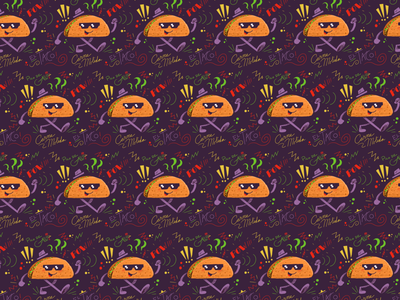 Taco Tile exploration illustration design ipad procreate pattern taco