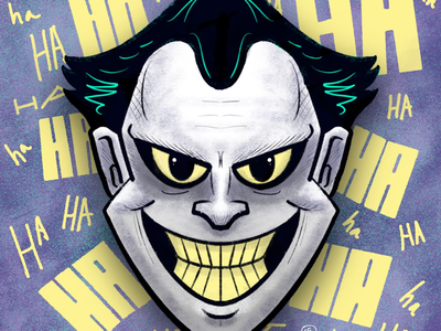 The Joker procreate illustration fan art batman joker