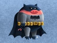 BATPIG ipadpro batpig batman pig procreate personal project illustration
