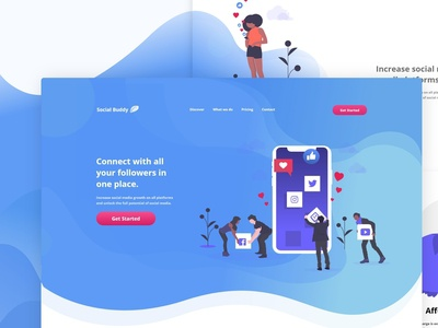 Social Media Booster Landing Page