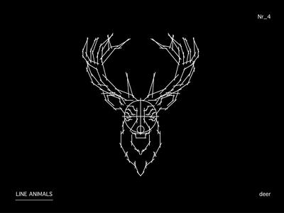LINE ANIMALS deer