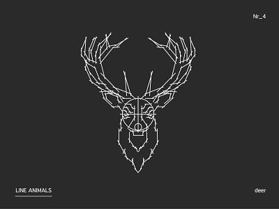 LINE ANIMALS deer nr.4 deer sketch series reduced lines illustration animal adobe illustrator