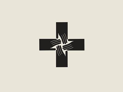 All Together For Health alltogether hospital health symbol cross medical hands logodesign logo adobe illustrator
