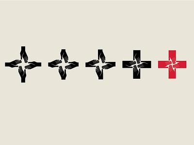 All Together For Health - Logo Evolution evolution process symbol medical logoinspirations logodesign logo hospital health hand hands cross alltogether adobe illustrator
