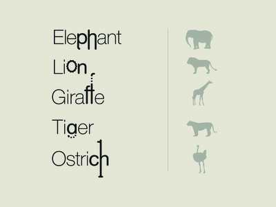 Animal Typography Exploration