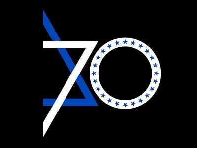 Logo for Israeli Embassy israel anniversary logotype vector branding logo design
