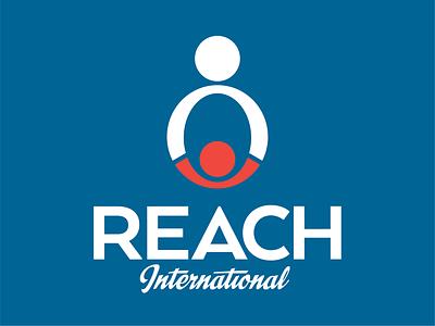 Reach International Logo design charity logo branding