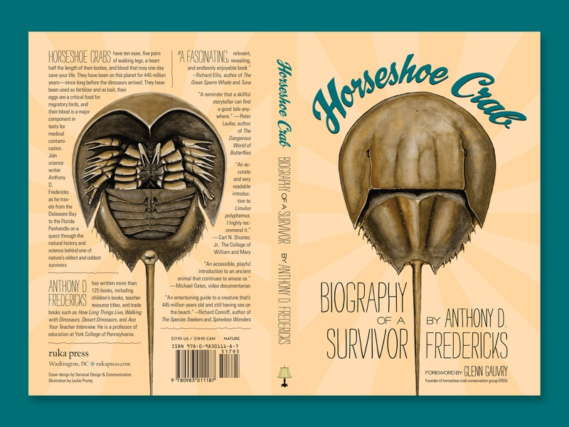 Horseshoe Crab Cover print graphic design cover book cover