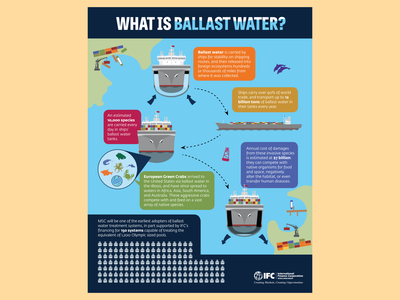 Ballast Water Infographic illustration graphic design information design infographics