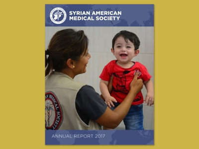 SAMS Annual Report cover annualreport nonprofits medical nonprofit annual report cover graphic design