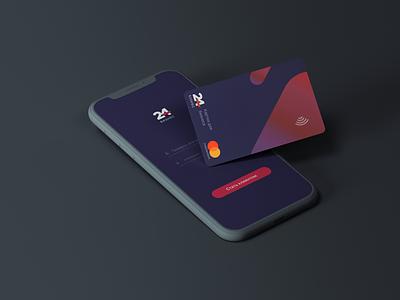 Business card ui minimal money card moneycard business mobile app money mobile design design app vector mobile card clientbanking banking online banking business card template business card