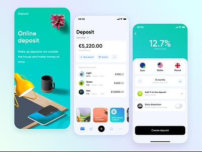 Online Banking dribbblers webdesigner userexperience digital userinterface interface uxdesign uidesign app product designe ux product banking mobile clientbanking design