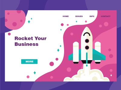 Rocket your business_web page web design space website 2020 branding sketch digital art adobe photoshop web illustration vector art design adobe illustrator