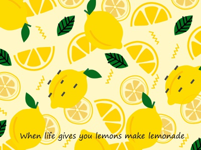 Lemons wallpaper concept life lemonade 2020 art wallpaper web illustration sketch adobe photoshop design vector digital art adobe illustrator