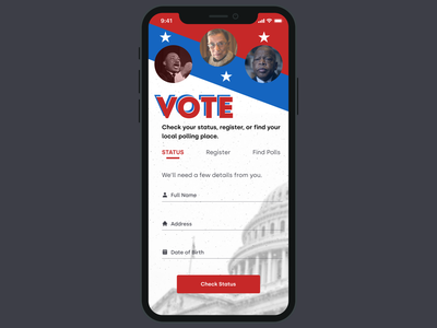 Vote Sign-Up Screen dailyui001 dailyui mobile