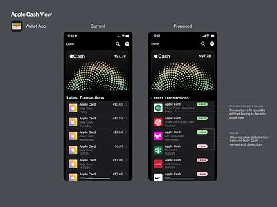 Apple Cash View Redesign figma ios dark mode ui apple mobile