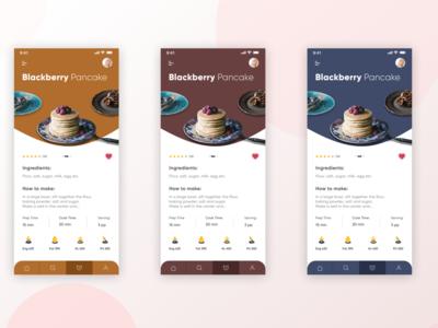 Cooking app landing page