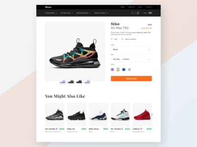 E-Commerce Website Detail Page