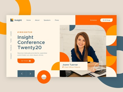 Insight Conference festival forum homepage home header hero website web ux ui speech summit meeting mentor workshop event conference landing page page landing