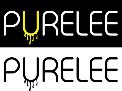 Purlee fruits juicing branding logo