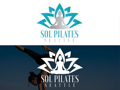 Lotus Yoga Logos graphic design branding