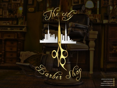 The City Barber Shop (Barber Shop Logo) logo branding graphic design