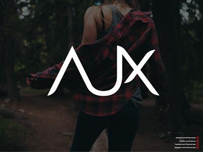 AUX (Text Logo Design) vector logodesign icon flat design logo branding