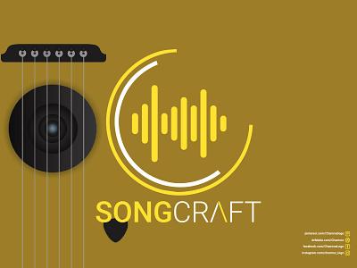 Song Craft (Music Producing Logo) illustration ui vector logodesign icon flat design logo branding