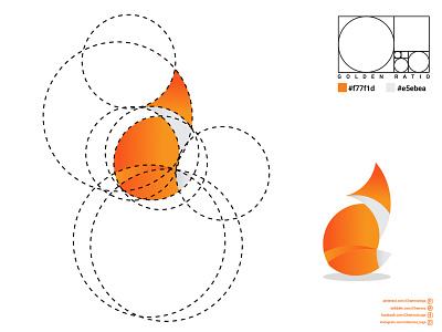 Golden Ratio Fox Logo ux ui illustration vector logodesign icon flat design logo branding