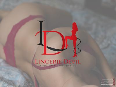 Lingerie Logo (Lingerie Devil) ux ui vector illustration logodesign icon flat design logo branding