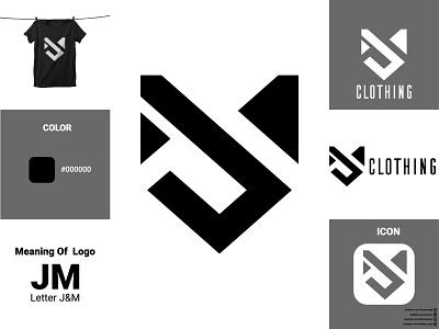 JM Text Logo ux ui illustration vector logodesign icon flat design logo branding