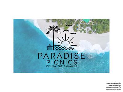 Beach Picnic Logo ux ui illustration vector flat logodesign icon logo design branding