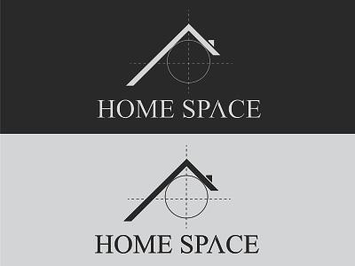 Home Space Logo vector design minimal flat icon logos logo space illustration branding minimalist logo logodesign