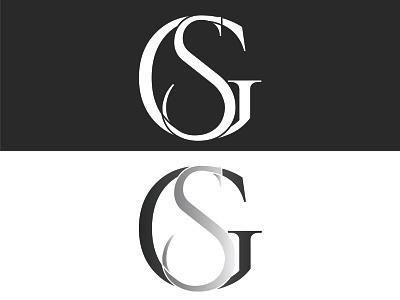 Gs Text Logo lettering flat illustration minimalist logo vector minimal icon logo logos logodesign design branding