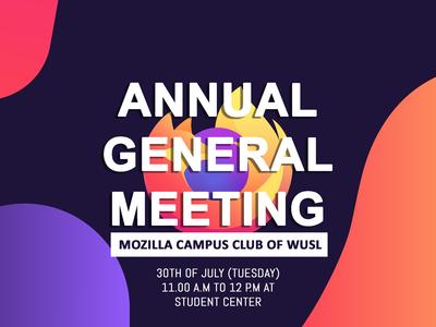 Mozilla Campus Club AGM Banner