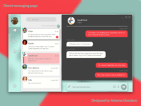 Daily UI Challenge :: Day 13 - Direct messaging